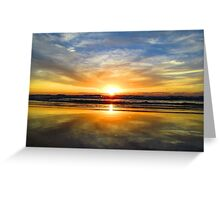 Dramatic orange and yellow sunset  Greeting Card