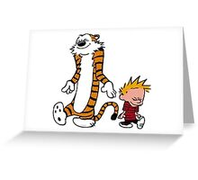 calvin and hobbes cool Greeting Card