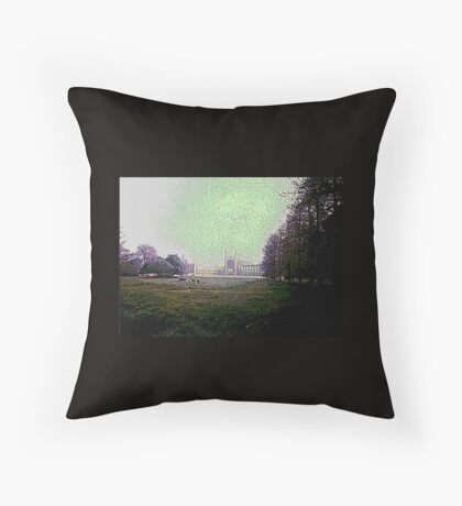 Cows&castle Throw Pillow