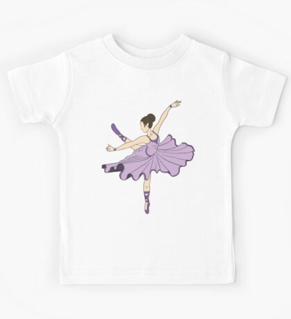Cute Purple Dance Ballerina Princess Kids Tee