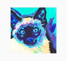 Siamese Cat Bright colorful pop kitty art Unisex T-Shirt