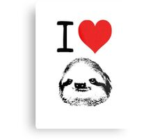 I Love Sloths Metal Print
