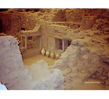 AKROTIRI - Ancient Buried City  Photographic Print