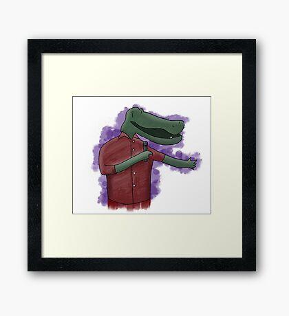 Alligator Comedian Framed Print