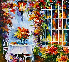IN THE GARDEN - Leonid Afremov by Leonid Afremov