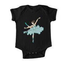 Cute Teal Blue Dance Ballerina Princess One Piece - Short Sleeve