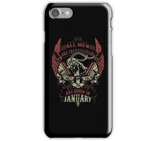 The Best Are Born In January iPhone Case/Skin