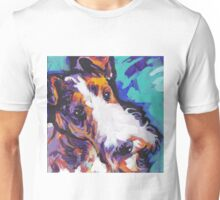 Wire Fox Terrier Bright colorful pop dog art Unisex T-Shirt