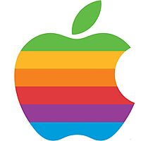 Retro Apple Logo Photographic Print