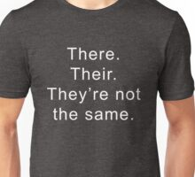 There Their They're Grammar English Graphic Funny Unisex T-Shirt