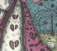 Goth Broken Heart Valentine Sticker