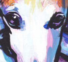 Whippet Dog Bright colorful pop dog art Sticker