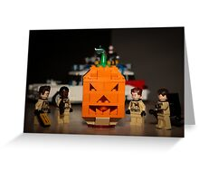 Ghostbusters Pumpkin Greeting Card