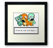 Pokemon Missing old days Framed Print