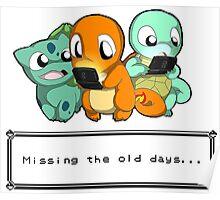 Pokemon Missing old days Poster
