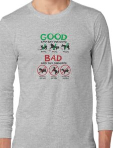 Good and Bad Barn Hunt Indicators Long Sleeve T-Shirt