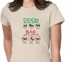Good and Bad Barn Hunt Indicators Womens Fitted T-Shirt
