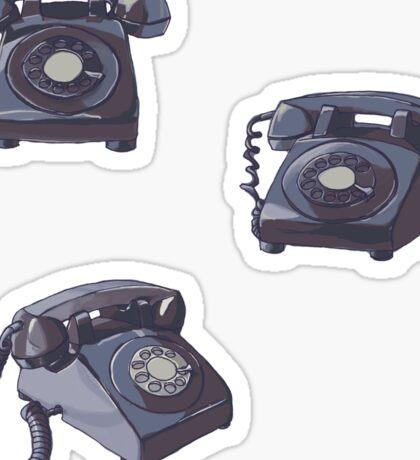 Rotary Phone seperate  Sticker