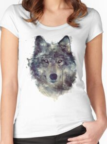 Wolf // Persevere Women's Fitted Scoop T-Shirt