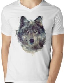 Wolf // Persevere Mens V-Neck T-Shirt