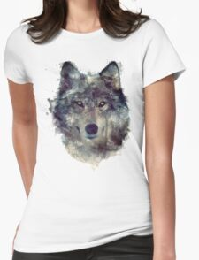 Wolf // Persevere Womens Fitted T-Shirt