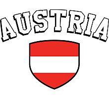 Austria Supporters Photographic Print