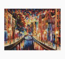 AMSTERDAM - NIGHT CANAL - Leonid Afremov Kids Clothes