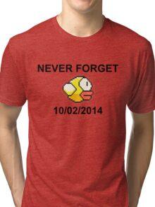 Never Forget Flappy Bird Tri-blend T-Shirt