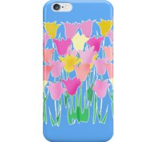 Pink and Yellow Tulips iPhone Case/Skin