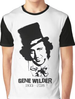 Gene Wilder Stencil Graphic T-Shirt