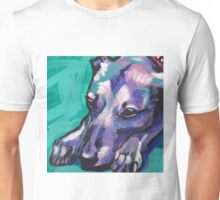 Whippet Dog Bright colorful pop dog art Unisex T-Shirt