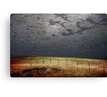 Moonlight Fenceline Canvas Print