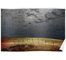 Moonlight Fenceline Poster