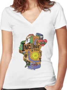 INCLINE VILLAGE Women's Fitted V-Neck T-Shirt