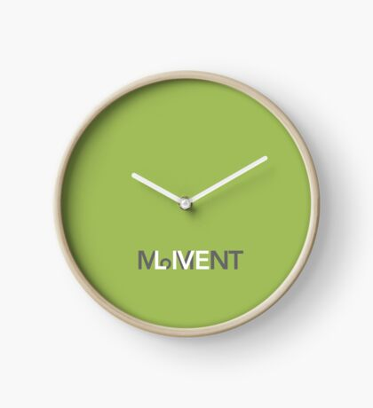 Live in the moment Clock