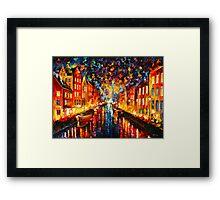 NIGHT COPENHAGEN - Leonid Afremov Framed Print
