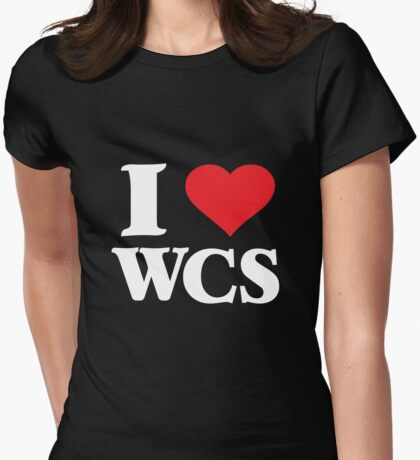 I Love West Coast Swing (W) Womens Fitted T-Shirt