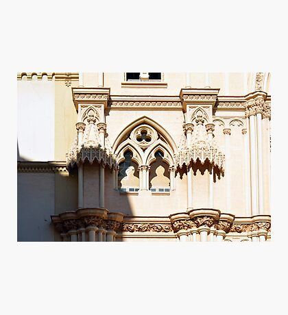 Architectural detail of the cathedral from Malaga, Spain. Photographic Print