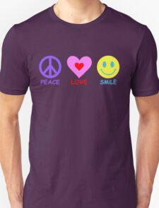 Peace Love Smile Unisex T-Shirt