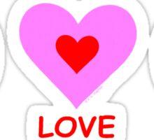Peace Love Smile Sticker
