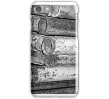 Rusty Pipes (black and white) iPhone Case iPhone Case/Skin