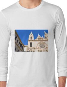Architectural detail of the cathedral from Malaga, Spain. Long Sleeve T-Shirt