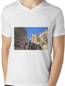Architectural detail of the cathedral from Malaga, Spain. Mens V-Neck T-Shirt