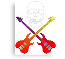 guitar cross bones  Canvas Print