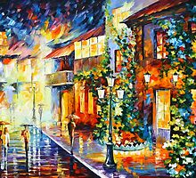 TOWN FROM THE DREAM - Leonid Afremov by Leonid Afremov