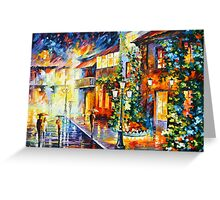 TOWN FROM THE DREAM - Leonid Afremov Greeting Card