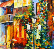 TOWN FROM THE DREAM - Leonid Afremov Sticker