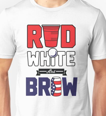 Red, white and brew Shirt Unisex T-Shirt