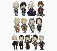 The Doctors 1-11 (plus war doc) Doctor Who Kids Clothes