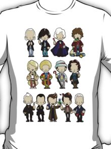 The Doctors 1-11 (plus war doc) Doctor Who T-Shirt